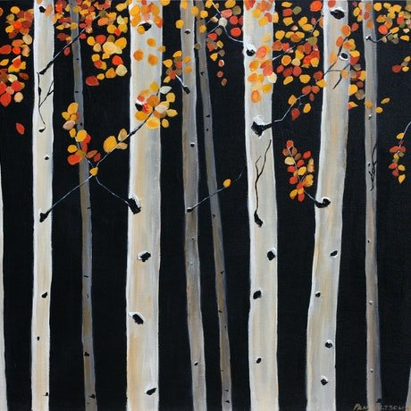 (CreativeWork) When Night Falls by Pam Altschwager. Acrylic Paint. Shop online at Bluethumb.