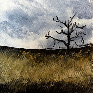 (CreativeWork) Moody Day by Amanda Hunt. arcylic-painting. Shop online at Bluethumb.