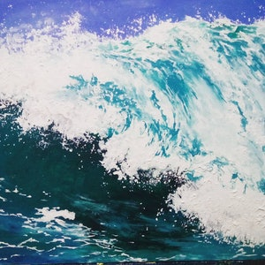 (CreativeWork) Ocean Rise by Sally Ford. arcylic-painting. Shop online at Bluethumb.