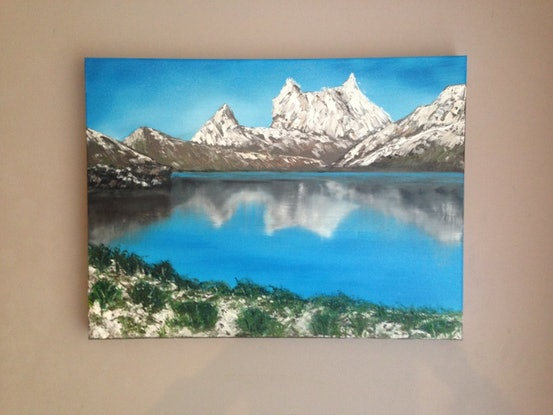 (CreativeWork) Cradle Mountain by Leanne Selkirk. Oil Paint. Shop online at Bluethumb.