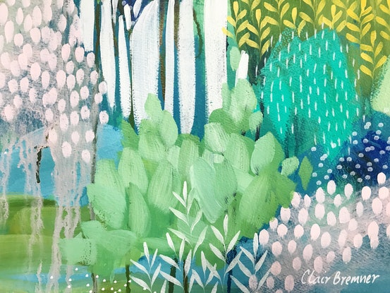 (CreativeWork) Sunny day in June by Clair Bremner by Clair Bremner. Acrylic Paint. Shop online at Bluethumb.