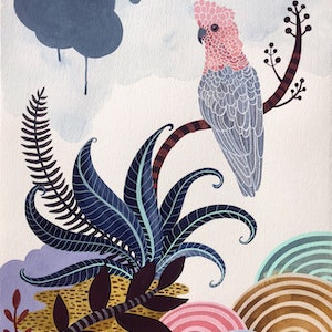 (CreativeWork) Gelato Galah by Sally Browne. other-media. Shop online at Bluethumb.
