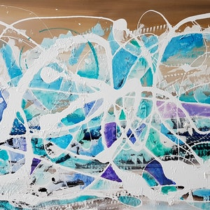 (CreativeWork) COASTAL  and OCEAN by Basia Kilian. arcylic-painting. Shop online at Bluethumb.