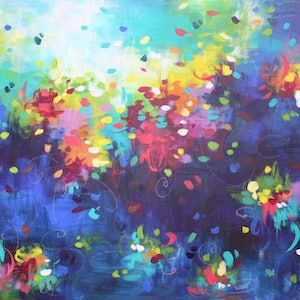 (CreativeWork) Rendezvous  by Belinda Nadwie. arcylic-painting. Shop online at Bluethumb.