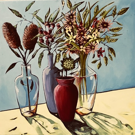 (CreativeWork) Australian flora by Carolyn Stephens. Acrylic Paint. Shop online at Bluethumb.