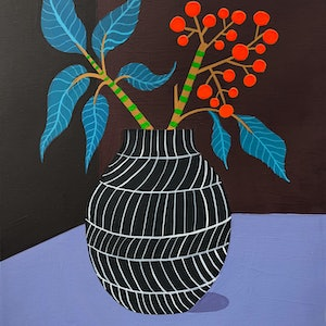 (CreativeWork) Murray's Vase Part 2 by Sally Browne. arcylic-painting. Shop online at Bluethumb.
