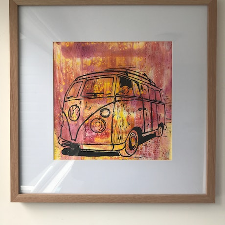 (CreativeWork) Kombi by Wendy Williams. Mixed Media. Shop online at Bluethumb.