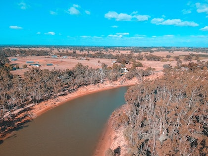 (CreativeWork) The Murray River by Stephanie Tuckfield. photograph. Shop online at Bluethumb.