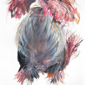 (CreativeWork) Disco Chick by Rebecca Hill. mixed-media. Shop online at Bluethumb.