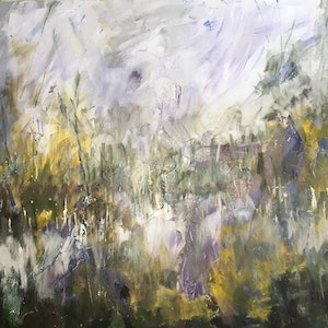 (CreativeWork) Pathways by Liz Muir. oil-painting. Shop online at Bluethumb.