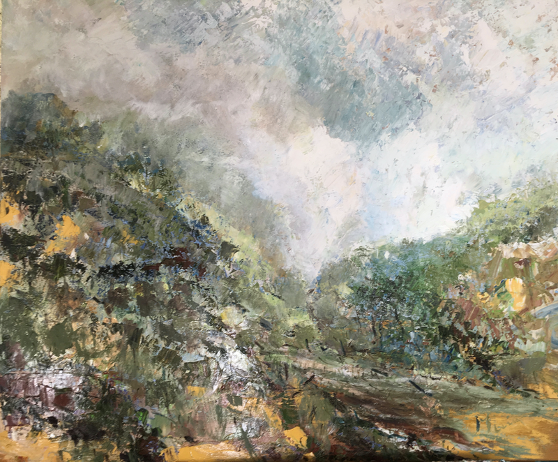 (CreativeWork) The Valley by Liz Muir. #<Filter:0x00007f515aa7caa8>. Shop online at Bluethumb.