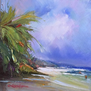 (CreativeWork) Noosa's Main beach #4 by Liliana Gigovic. oil-painting. Shop online at Bluethumb.