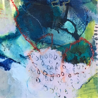 (CreativeWork) And the beat goes on by Nicole Fearfield. Mixed Media. Shop online at Bluethumb.