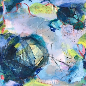 (CreativeWork) And the beat goes on by Nicole Fearfield. mixed-media. Shop online at Bluethumb.