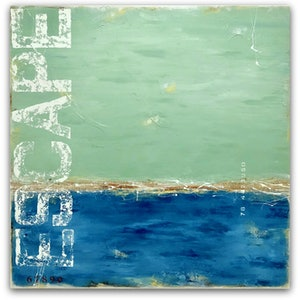 (CreativeWork) Bayside Escape by Sabina D'Antonio. mixed-media. Shop online at Bluethumb.