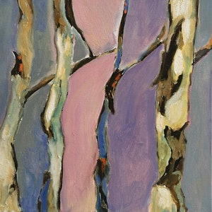 (CreativeWork) Sapling Gums by Susannah Bond. oil-painting. Shop online at Bluethumb.