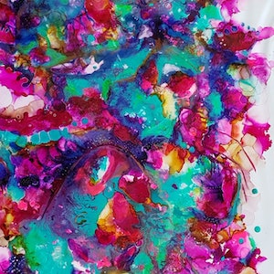 (CreativeWork) Explosion of Color by Jojo Harvey. other-media. Shop online at Bluethumb.