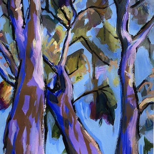(CreativeWork) Afternoon Gums 1 by Kate Gradwell. arcylic-painting. Shop online at Bluethumb.