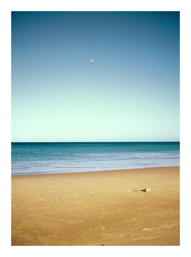 (CreativeWork) MOON, SKY, SEA, SAND, MOON, ROCK by Tony Knight. photograph. Shop online at Bluethumb.