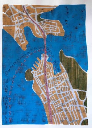 (CreativeWork) sydney by Tarli Bird. Mixed Media. Shop online at Bluethumb.