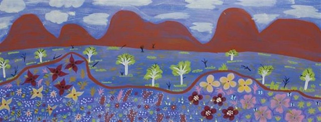 (CreativeWork) Landscape, 13SL143 by Susie Lane. Acrylic Paint. Shop online at Bluethumb.