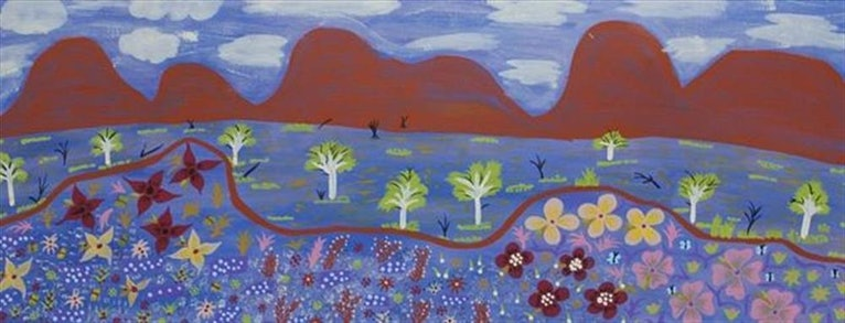 (CreativeWork) Landscape, 13SL143 by Susie Lane. arcylic-painting. Shop online at Bluethumb.