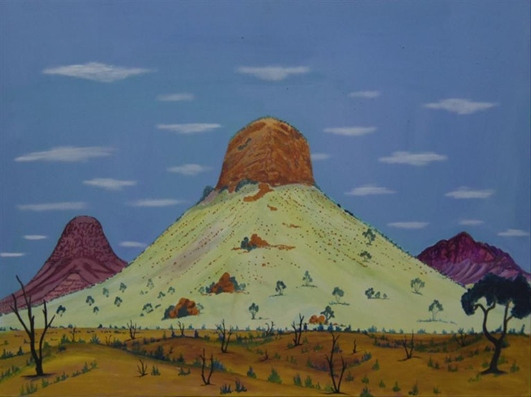 (CreativeWork) Round Hill, 14-WJ20 by Walter Jugadai. arcylic-painting. Shop online at Bluethumb.