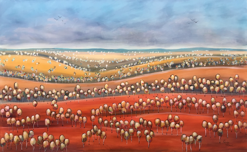 (CreativeWork) Gathering Storm by Ron Brown. arcylic-painting. Shop online at Bluethumb.