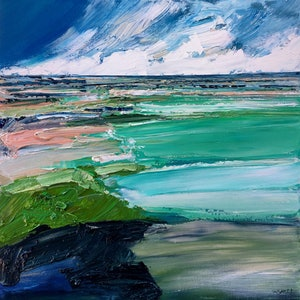 (CreativeWork) Whitehaven by Katie Wyatt. arcylic-painting. Shop online at Bluethumb.