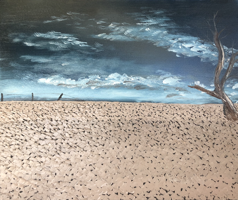 (CreativeWork) Then who will feed us? by Leanne Selkirk. Oil Paint. Shop online at Bluethumb.