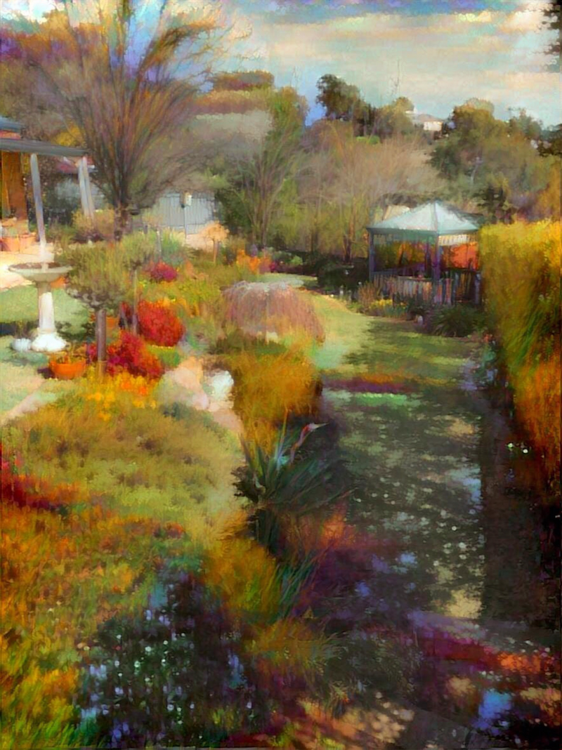 (CreativeWork) Enchanted Vista - Winter's Garden Ed. 1 of 10 by Wendy Goodwin. print. Shop online at Bluethumb.