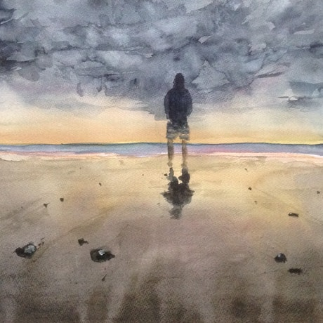 (CreativeWork) Surf's Up   (in your dreams) by Bernd Rieve. Watercolour Paint. Shop online at Bluethumb.