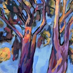 (CreativeWork) Afternoon Gums 2 by Kate Gradwell. arcylic-painting. Shop online at Bluethumb.