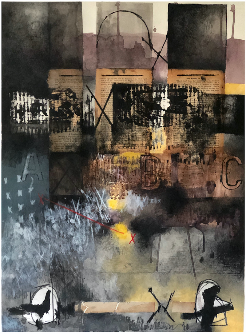(CreativeWork) COMPOSITION NO. 174 [ THE MYSTERY OF ] 2018 by G Kustom Kuhl. mixed-media. Shop online at Bluethumb.