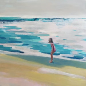 (CreativeWork) Wave chaser by Sarah Simpson. arcylic-painting. Shop online at Bluethumb.