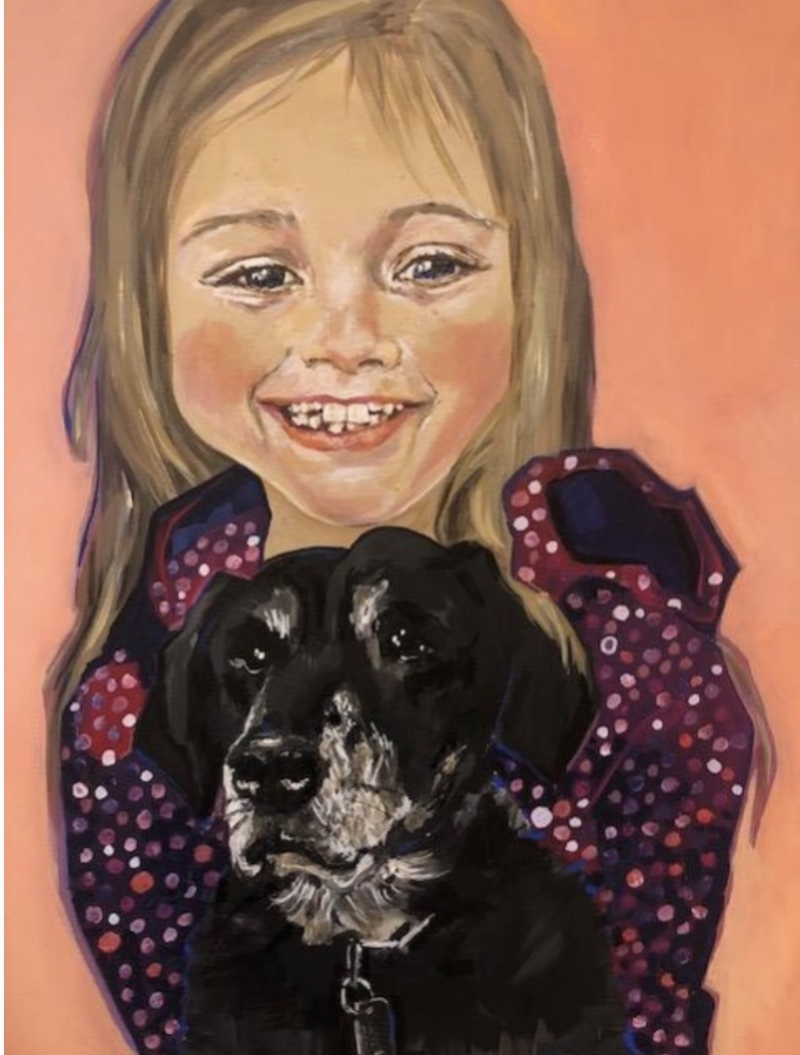 (CreativeWork) Kayley & Cooper 2018 by Bonnie Hope. mixed-media. Shop online at Bluethumb.