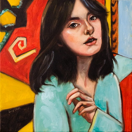 (CreativeWork) Matisse's Girl II by Lucy Chen. Oil Paint. Shop online at Bluethumb.