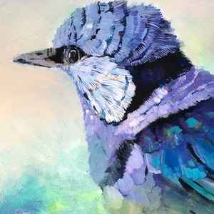 (CreativeWork) Bluebird by Alison Pilcher. arcylic-painting. Shop online at Bluethumb.