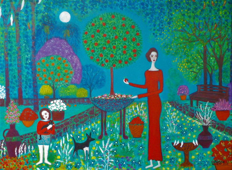 "(CreativeWork) ""  A Gentle ,Graceful Garden""  by Catherine Walker. arcylic-painting. Shop online at Bluethumb."