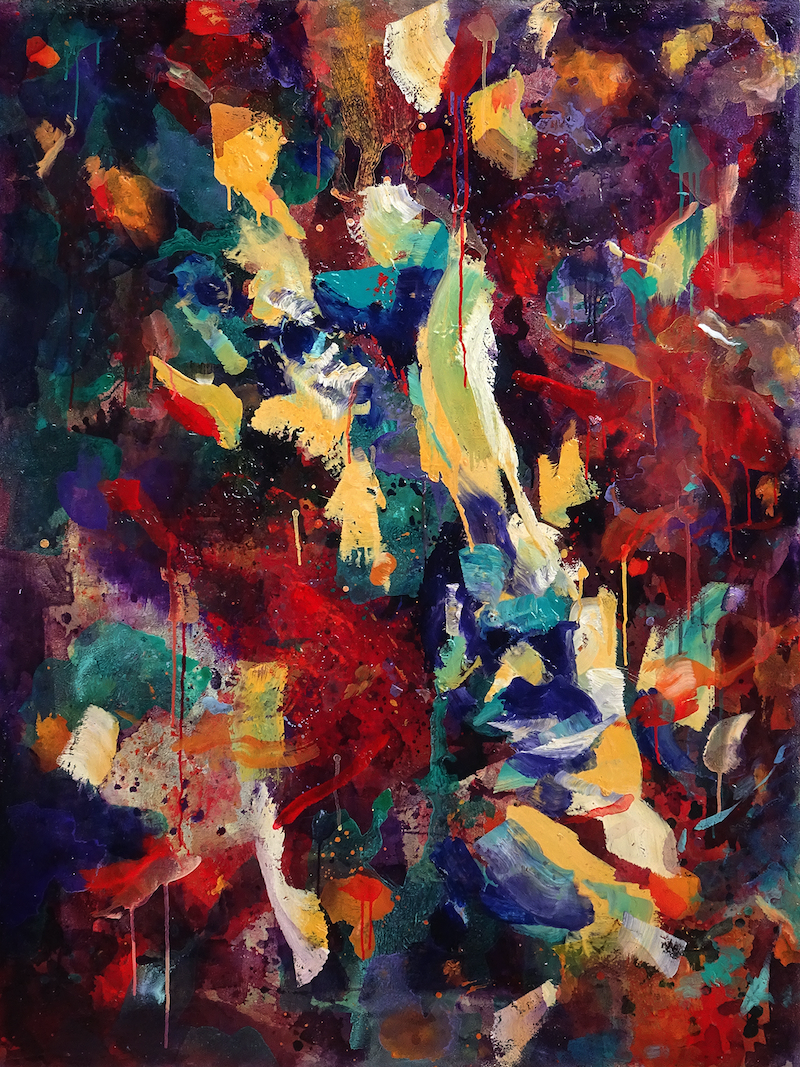 (CreativeWork) Left gazing by Nicholas Robinson. oil-painting. Shop online at Bluethumb.