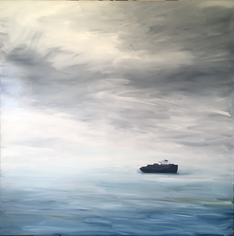 (CreativeWork) All At Sea by Siobhan Kelley. Oil Paint. Shop online at Bluethumb.