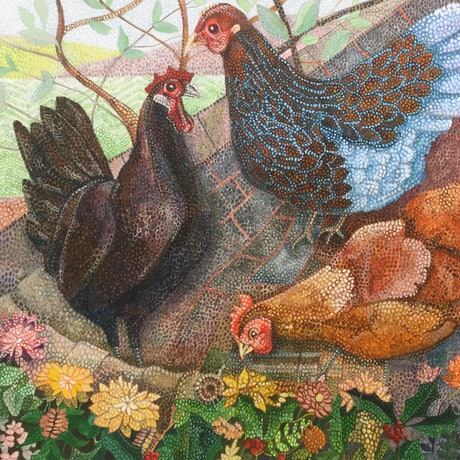 """(CreativeWork) """"Chooks"""" Ed. 3 of 25 by Christopher O'Hare. Reproduction Print. Shop online at Bluethumb."""