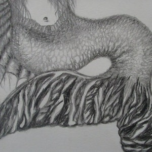 (CreativeWork) Mermaids Tail by Maree Saville. drawing. Shop online at Bluethumb.