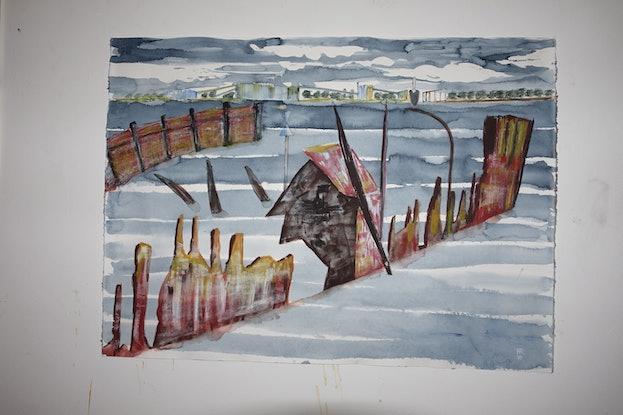 (CreativeWork) Stockton by Peter Read. Mixed Media. Shop online at Bluethumb.