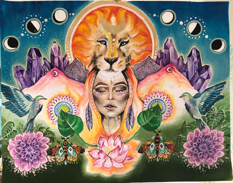 (CreativeWork) mother nature by Amelia Ludlam. arcylic-painting. Shop online at Bluethumb.