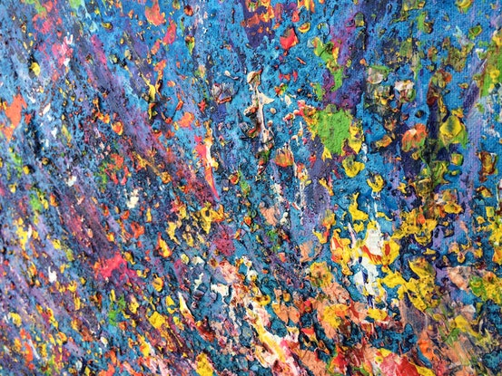 (CreativeWork) I bloom when I am ready (abstract expressionism) by Nina Bach. Mixed Media. Shop online at Bluethumb.