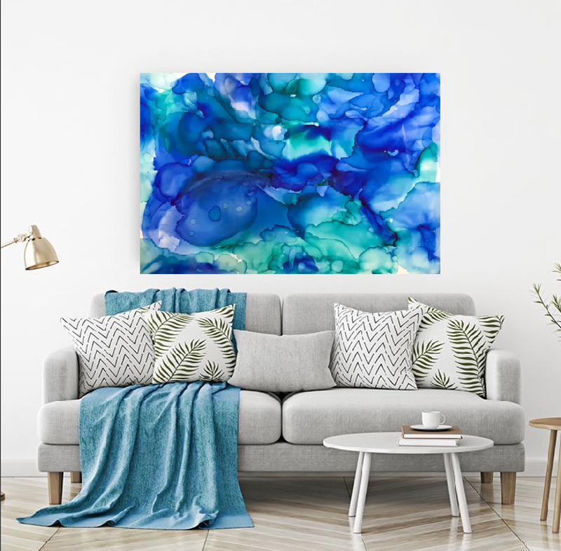 (CreativeWork) Big Blue abstract ink  by Alanah Jarvis. other-media. Shop online at Bluethumb.