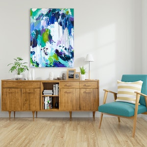 (CreativeWork) PAINTING BY THE SEA by Karen M. Andersen. acrylic-painting. Shop online at Bluethumb.