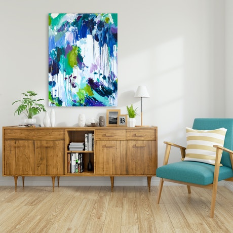 (CreativeWork) PAINTING BY THE SEA by Karen M. Andersen. Acrylic Paint. Shop online at Bluethumb.