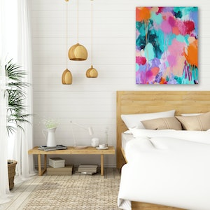 (CreativeWork) RAINFOREST SUNSETS by Karen M. Andersen. acrylic-painting. Shop online at Bluethumb.